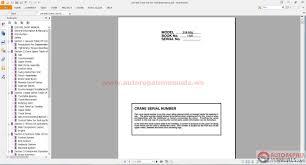 linkbelt all set operating service and maintenance manual auto