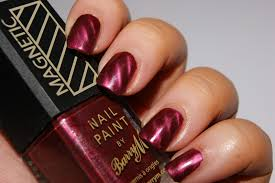 barry m magnetic burgundy nail polish review