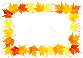 best free autumn leaves border stock vector thanksgiving drawing