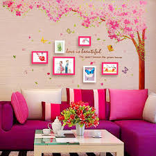 large pink cherry blossom flower tree wall sticker mural living large pink cherry blossom flower tree wall sticker mural living room decor decal