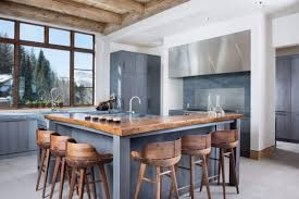 interesting kitchen island with seating on two sides stylish