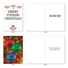 merry effing christmas assorted red rocket christmas greeting card