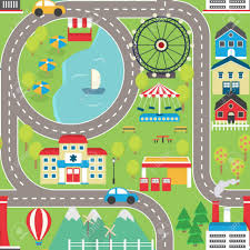 coffee tables car track seamless pattern road rug for toy cars