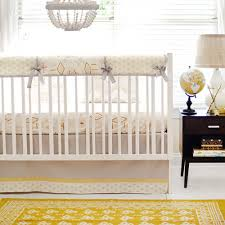 gold and gray tribal crib rail guard set gold crib bedding