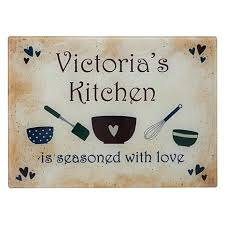 cutting board personalized personal creations personalized seasoned with kitchen glass
