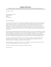 best ideas of sample cover letter for healthcare manager position