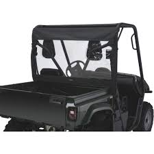 classic accessories quadgear utv rear window u2014 black for yamaha