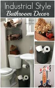 industrial pipe bathroom accessories wall decor chic vintage
