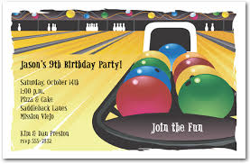 bowling game birthday party invitations u2013 bagvania free printable