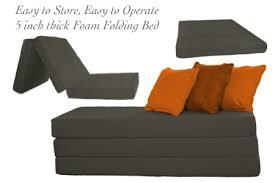 Folding Foam Bed Folding Foam Bed Pewter 5 Inch Tri Folding The Futon Shop