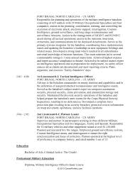 Resume Builder Military To Civilian Military To Civilian Resume Builder Resume Military To Civilian