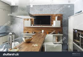 photos of modern kitchens residential interior modern kitchen luxury mansion stock photo