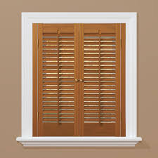 homebasics traditional faux wood oak interior shutter price