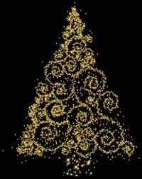 christmas tree clip art black and white starry starry gold