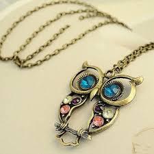 crystal owl necklace images Blue eyed crystal owl necklace hollowclothingco jpg