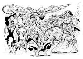 print u0026 download spiderman coloring pages venom