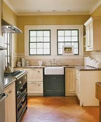 decor window treatments and kitchen cabinets with apron front