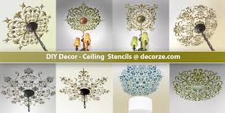 paint stencils for walls ceiling stencils diy decor from decorze com youtube