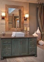 Distressed Bathroom Vanities Distressed Bathroom Vanity Contemporary With Ceiling Lighting