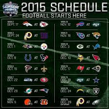 2015 nfl thursday football television schedule on cbs nfln