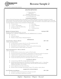 Basic Resume Outline Sample Examples Of Resumes Sample Format Resume Example Basic For