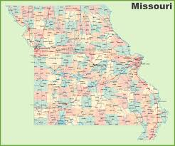 Illinois Road Map by Road Map Of Missouri With Cities