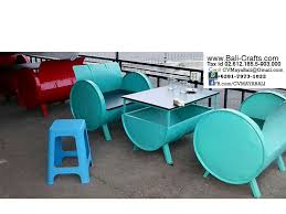 recycled oil drum chair and cube bali indonesia u2013 bali crafts com