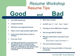 Bad Examples Of Resumes by Rdrew Resume Workshop