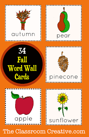 thanksgiving vocabulary words fall word wall cards 34 hand illustrated images