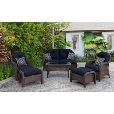 newport 6 piece seating set in navy newport6pc nvy