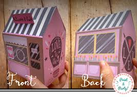 printable cafe box cute digital treat container girly