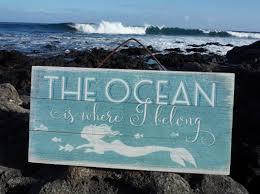 the ocean is where i belong tropical mermaid nautical beach home