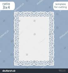 Borders For Wedding Invitation Cards Laser Cut Wedding Invitation Card Template Stock Vector 494228884