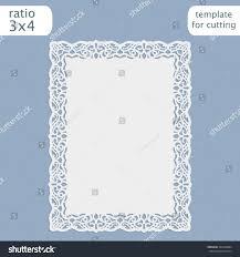 Wedding Invitation Card Templates Laser Cut Wedding Invitation Card Template Stock Vector 494228884