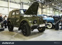 gaz 69 off road moscowmarch 9 gaz69 international exhibition technical stock photo