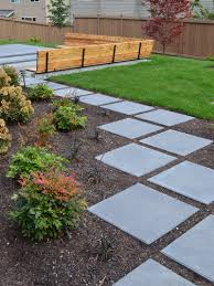 lynnwood 2x2 modern stepstone paver pathway by sublime garden