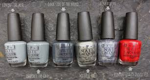 dahlia nails opi fifty shades of grey collection