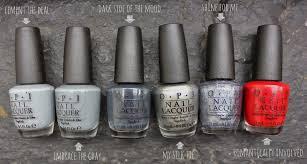 Shades Of Gray Dahlia Nails Opi Fifty Shades Of Grey Collection