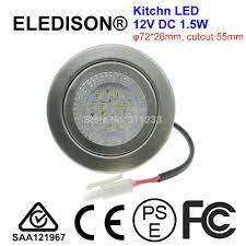 aliexpress com buy kitchen led bulb light 12v dc 1 5w cutout