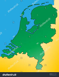 Map Of The Netherlands Detailed Map Netherlands Holland Europe Vector Stock Vector
