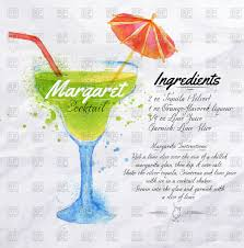 alcoholic drinks clipart margaret cocktail drawn watercolor with recipes and ingredients