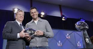 brady gives a refresh to tom brady ends deflategate tour with handshake trophies