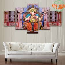 aliexpress com buy new 5 pieces set canvas art elephant god