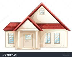 home front view design pictures simple house amusing stock vector illustration a simple house