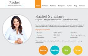 gallery of rachel wordpress resume theme for cv and personal