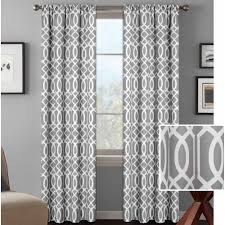 Gray And White Curtains Ideas Enchanting Grommet Curtain Panels For Elegant Interior Home