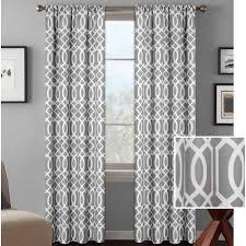 ideas interesting gray pattern curtain panels with dark curtain
