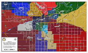 Bakersfield Zip Code Map by Boundaries Instruction Division Kern High District