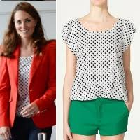 polkadot top zara white polka dot top kate middleton tops kate s closet