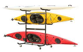 Free Standing Kayak Storage Rack Plans by Freestanding Kayak Storage Rack With Wheels Steel Fits 5 Kayaks
